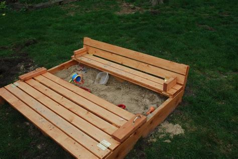 sandbox with folding benches 14 cheap and easy diy sandbox ideas with tutorials