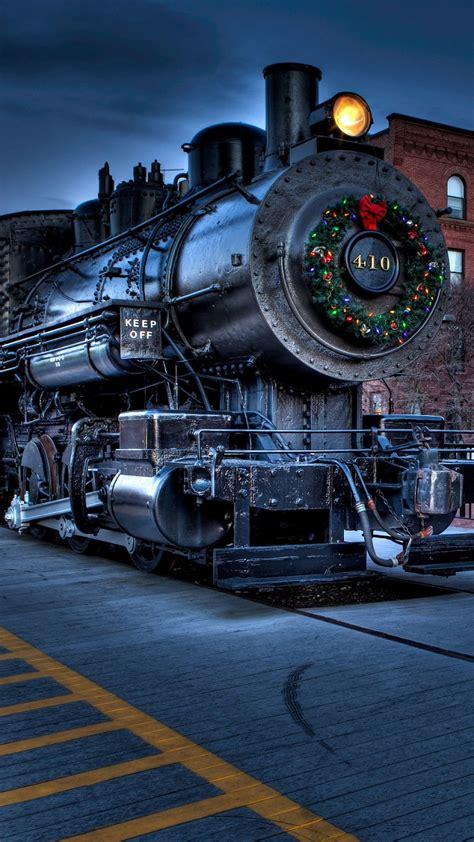 christmas wallpaper galaxy s6 christmas city locomotive railway samsung galaxy s6 s7