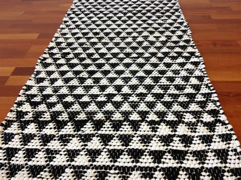 black rag rug rag rugs lindby black white rag rugs