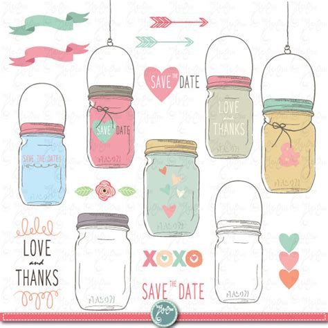 Jar Wedding Clipart by Jar Clipart Pack Quot Wedding Jar Quot Clip