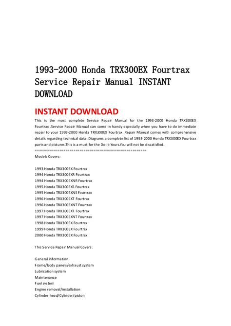 service manual car owners manuals free downloads 1993 bmw 8 series navigation system free 1993 2000 honda trx300 ex fourtrax service repair manual instant down
