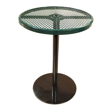 36 bar height table 36 quot perforated patio thermoplastic coated bar height