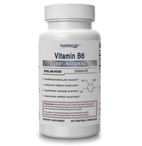 supplement b 6 vitamin b6 superior labs supplements
