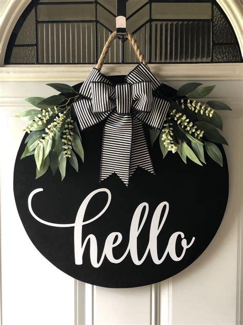 door hanger door hanger door decor door sign