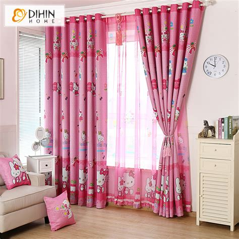colorful curtains for kids aliexpress com buy dihin 1 pc new arrival cartoon pink