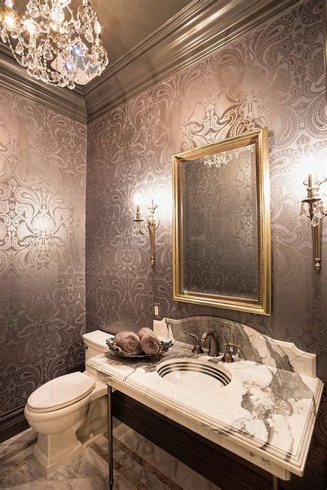powder room 20 gorgeous wallpaper ideas for your powder room