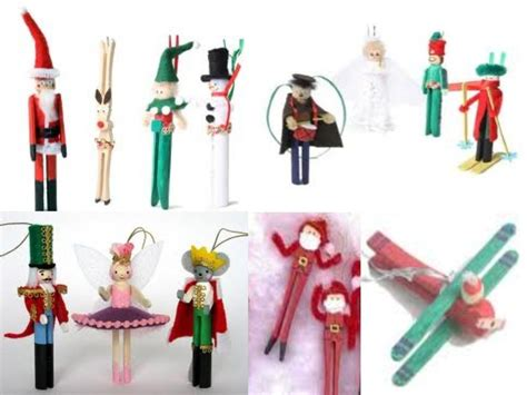 christmas clothes pin ornaments clothespin crafts
