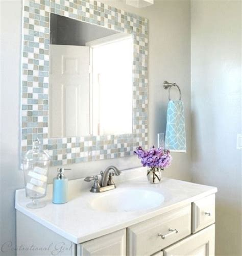bathroom mirror decorating ideas best 25 tile mirror frames ideas on tile mirror tile around mirror and lowes mirrors