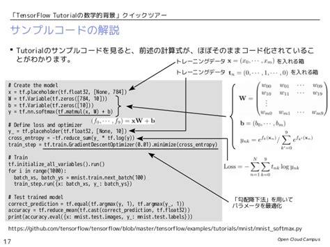 Tensorflow Tutorial Github   tensorflow tutorialの数学的背景 クイックツアー パート1