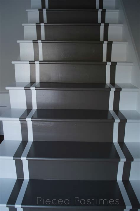 painted stairs pieced pastimes diy painted stair runner