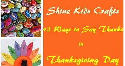 Http Blog Weespring 2017 Giving Thanks Giveaway - shine kids crafts 12 thanksgiving crafts ways to show thanks by kids