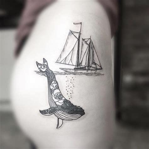 boat outline tattoo best 25 sail tattoo ideas on pinterest worst tatoos