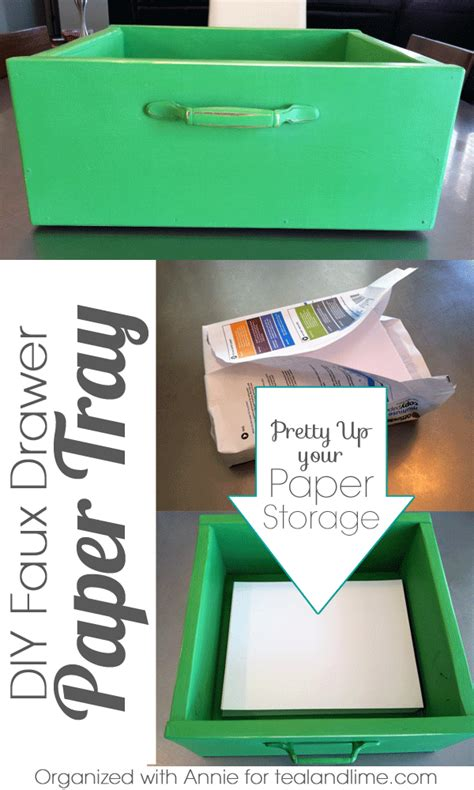 How To Make A Tray Out Of Paper - how to make a faux drawer paper tray school of