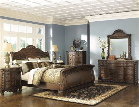 north shore bedroom furniture north shore sleigh bedroom set from ashley b553