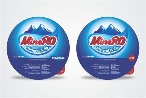 Sticker Produk Merk Br 18 sribu desain label desain label untuk produk air minum da