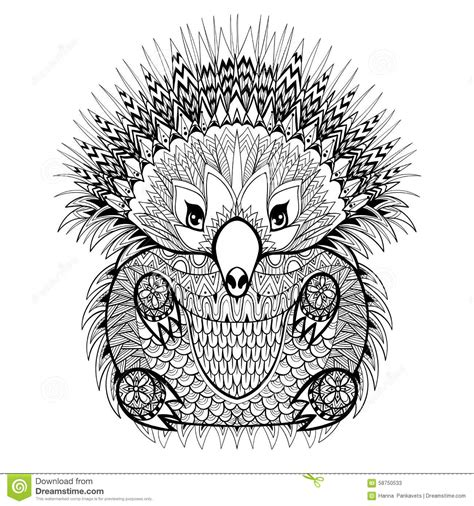 Hand Drawn Echidna, Australian Animal Illustration For