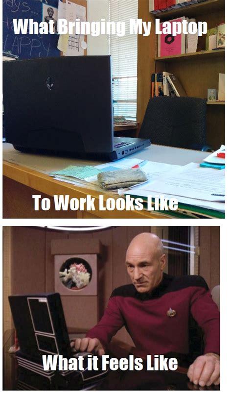 Meme Laptop - star trek meme chasing atlantis