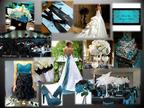 Teal, Black & White wedding theme   The Day I Say I Do