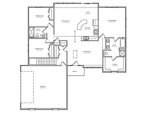 3 Bedroom Ranch Floor Plans Brick Ranch House Plan 3 Bedroom Ranch House Plan With