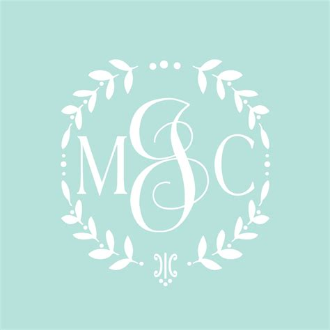 Monogram Wall Decals For Nursery Vine Monogram Decal Baby Nursery Wall Decal Wreath