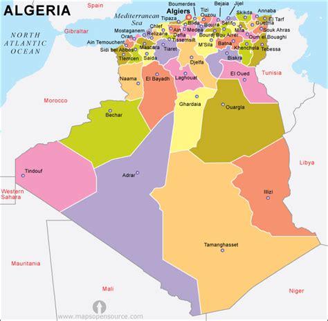algeria map with cities free algeria political map political map of algeria
