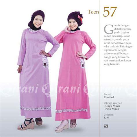 Gamis Muslimah Bahan Combed qt57 katalog busana muslim
