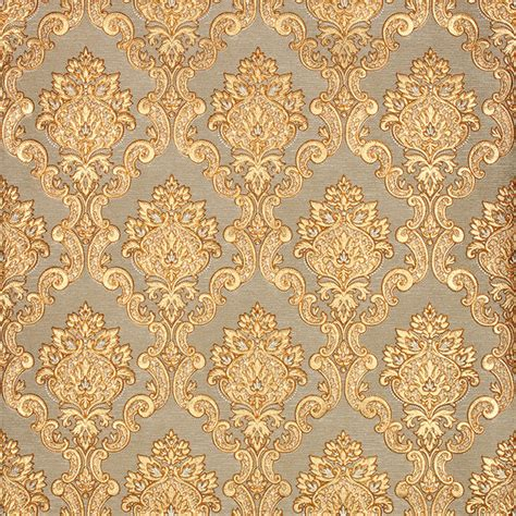 Rococo Bedroom 3d gold luxury wallpaper 3d damascus mural wall paper roll