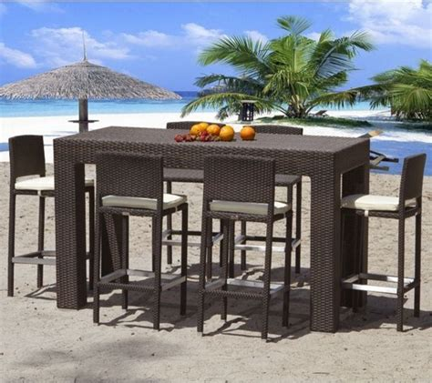 Bar Height Bistro Table Outdoor Outdoor Wicker Bar Height Dining Table Outdoor Pub And Bistro Tables Chicago By Home