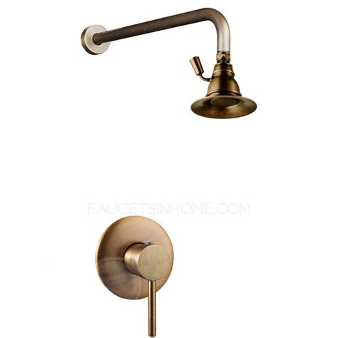 Antique Shower Faucets by Superior Antique Brass Ring Top Shower Faucet