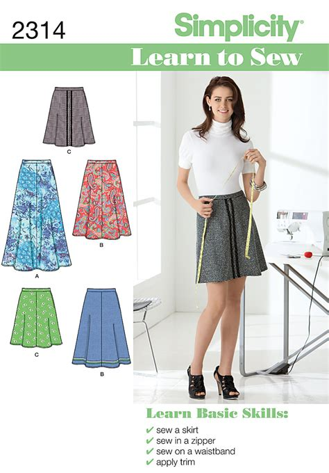 simple pattern sewing simplicity 2314 misses skirts