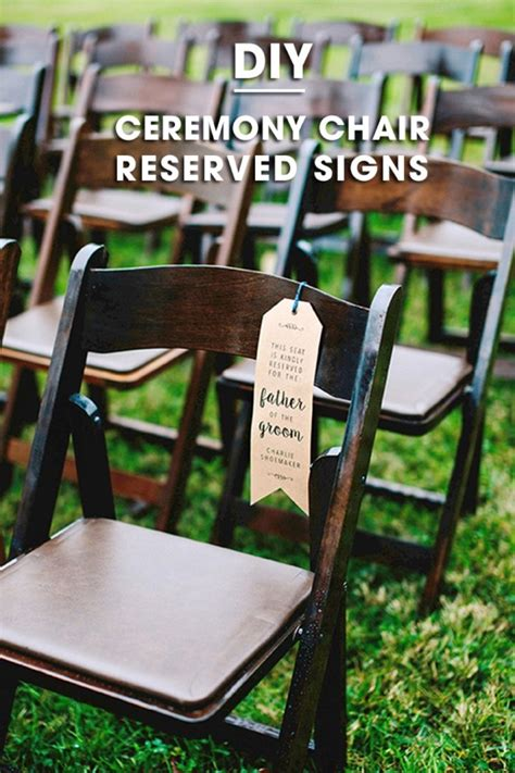 reserved signs for chairs printable make your own wedding ceremony chair quot reserved quot signs