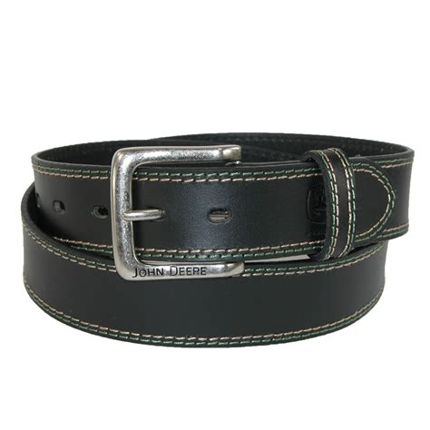 mens buffalo leather 1 5 inch bridle belt with contrast