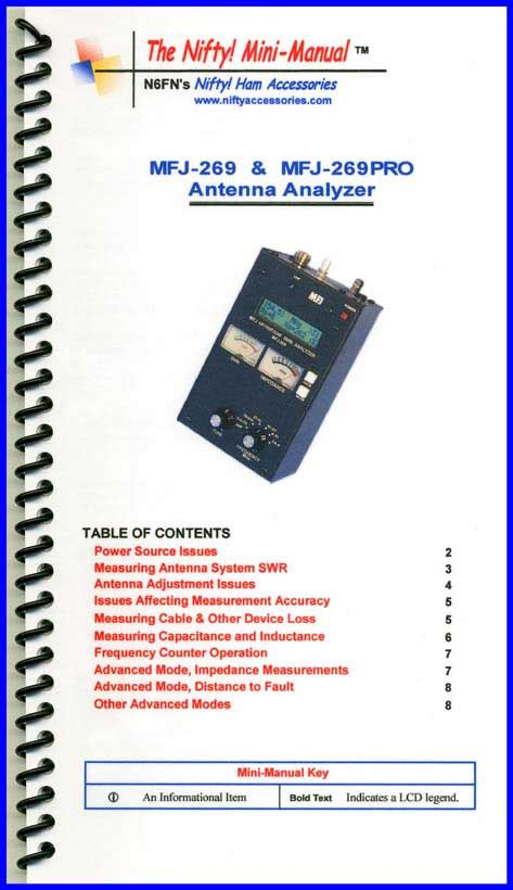 mfj   mfj pro analyzer mini manual