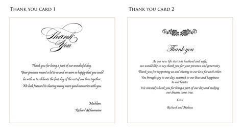 templates for thank you cards weddings wedding thank you card ideas fortworthweddingmall
