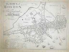 Old Map Of Boston by Historic Map Of Boston From 1722 New England Boston