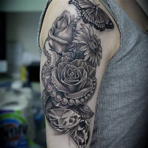 flower tattoo designs for upper arm arm butterfly flowers arm design