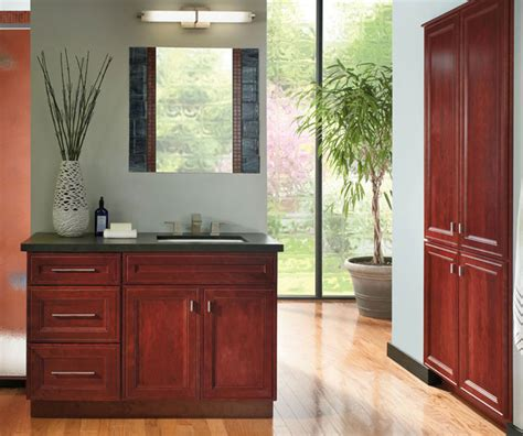 cherry bathroom vanity schrock cabinetry bathroom