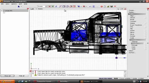 partes de kenworth tutorial zmodeler como dividir partes de un camion youtube