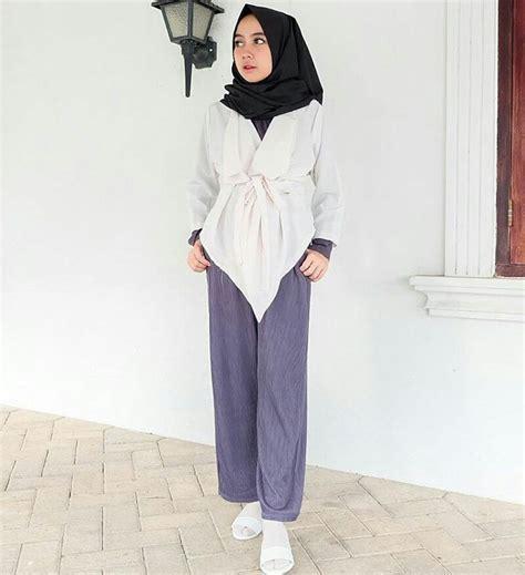 Baju Fashion Yang Gaya Dan Hitsbahannya Lembut Dan Nyaman Di Pakai trend busana muslim modern untuk remaja muslimah foto 2017