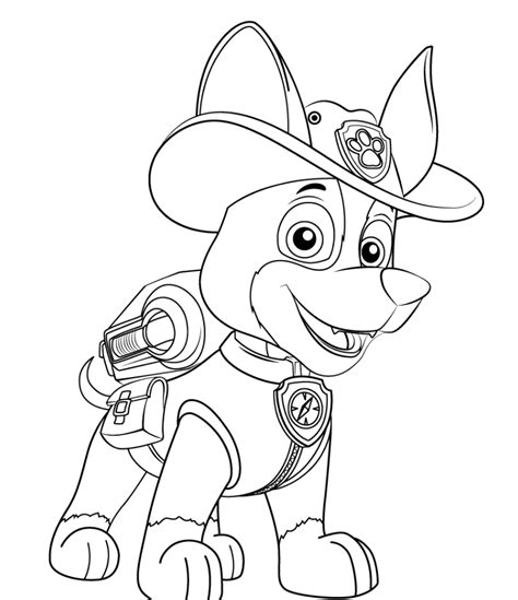 Paw Patrol Coloring Pages New Pup | paw patrol new pup tracker coloring page coloring home