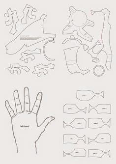 How To Make Iron Gloves Out Of Paper - dali lomo iron paper free template pdo by
