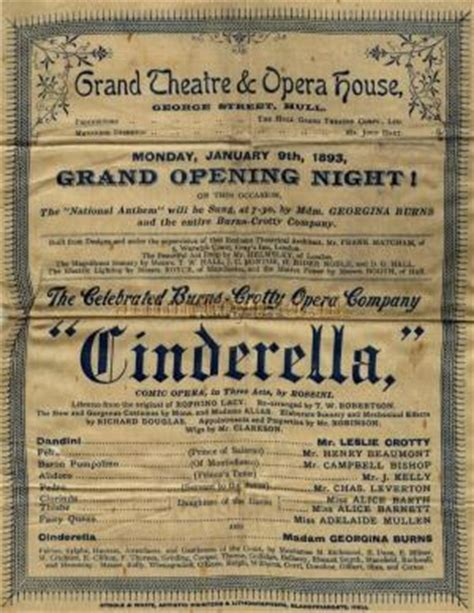 cinderella film hull the grand theatre and opera house george street hull