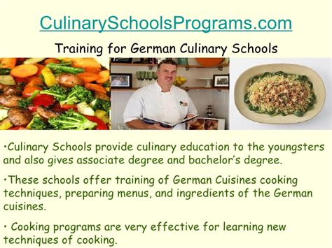 How To Find In Germany How To Find German Culinary Schools For Cooking