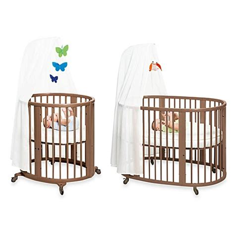 Used Mini Crib Stokke 174 Sleepi Walnut Crib System Bed Bath Beyond