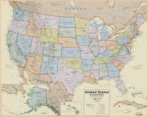 map of unite states united states wall map laminated boardroom style 19 99