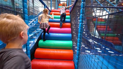 to play at a in indoor playground at kalle s lek lattjo