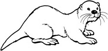 Otter Coloring Pages sketch template