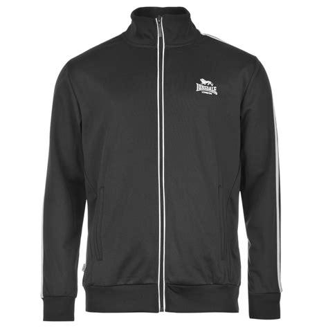Lonsdale Tracktop Bnwt 1 Lonsdale 2 Stripe Track Jacket Mens Black White Tracksuit