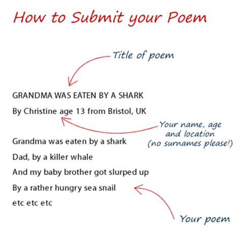 section of a poem submit a poem poetry