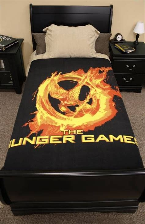 the hunger games themed bedroom the hunger games movie polar fleece bed throw i would